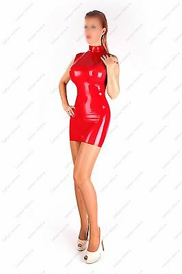 0091 Latex Rubber Gummi Dress one piece cheongsam skirt fitted customized 0.4mm