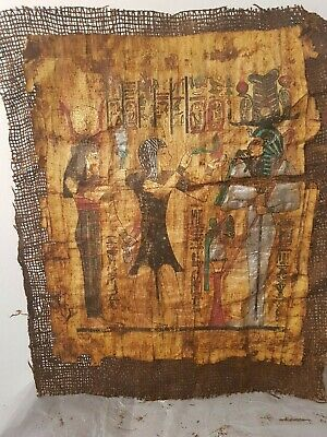 Rare Antique Ancient Egyptian Papyrus king Ramses God Isis & Amun 1279–1213BC