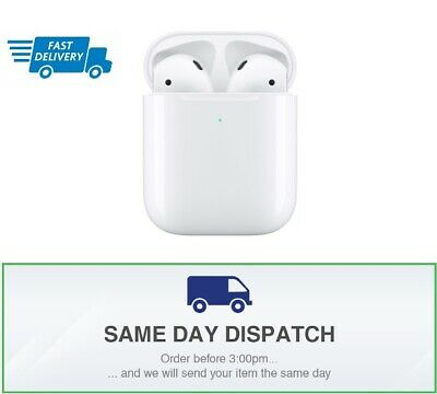 GENUINE Apple AirPods 2nd Generation Wireless Charging- Bluetooth (NEW & SEALED)