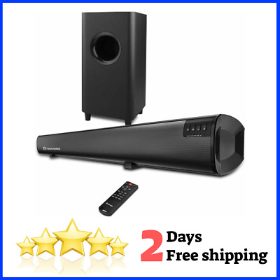 2.1 Channel Bluetooth Soundbar TV Subwoofer Surround Home Theater System 34 inch