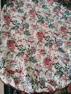 "68"" round country garden pinks flowers tablecloth Romantic Cottage chic floral"