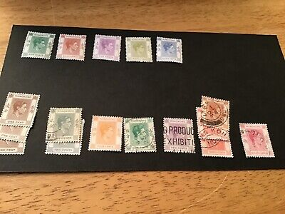 Stamps Hong Kong mint hinged and used Kg V1 1938.sg 145b and others