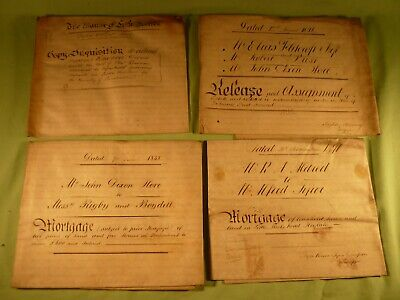 Antique Vellum Indenture Document 1818 The Manor of Little Woolton Inquisition