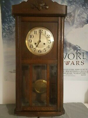 victorian chime wall clock from paddington station