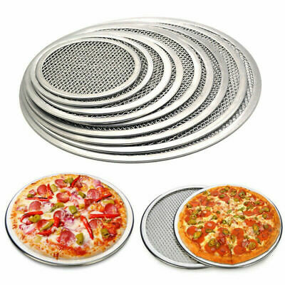 "6"" to 16"" Inch Aluminium Mesh Pizza Screen Baking Tray Round Wire Mesh Food Tray"