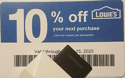 Twenty (20) LOWES Coupons 10% OFF At Competitors ONLY not AtLowesExp July15 2020