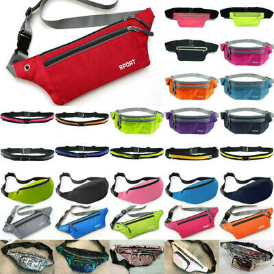 Bum Bag Phone Money Running Hiking Sport Fanny Pack Waist Belt Zip Pouch Outdoor