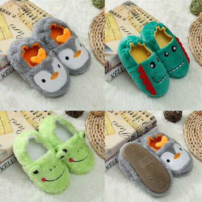Toddler Infant Kid Baby Winter Warm Shoes Boy Girl Cartoon Soft-Soled Slippers k