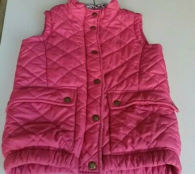Girl's Pink Joules Gilet quilted Jacket Age 9-10 Years.