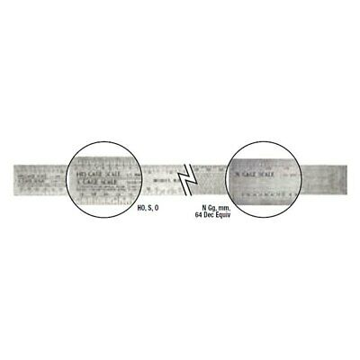"""General Tools 12"""" SAE Industrial Precision Flexible Stainless Steel Ruler"""