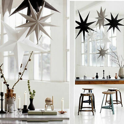 Nine Angles Paper Star Hanging Christmas Lantern Home Party Decor Craft Ki COP
