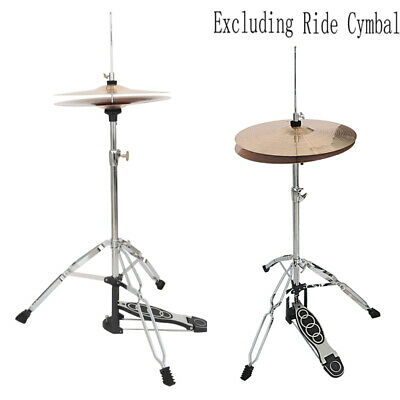 Adjustable Height Drum High Hat Cymbal Boom Stand With Pedal Adapter Percussion