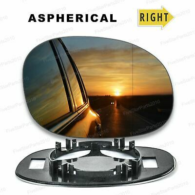 Left Passenger Side N//S Wide Angle Wing Mirror Glass for PEUGEOT 206 1998-2010