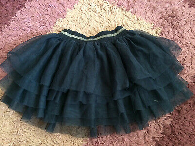 Girls Name It Navy Blue Silver Sparkle Christmas Party Tutu Style Skirt 5-6 Yrs