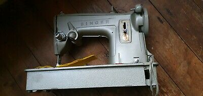 Heavy Duty Vintage 1960S Electronic Singer 329 Sewing Machine In Case For Repair