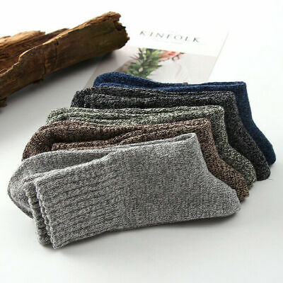 Soft 5 Pairs New Winter Socks Thick Casual Warm Sports Men Cashmere Wool Solid