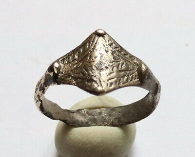 Ancient Old SILVER FABULOUS STATUS Ring Runic Ornament VERY RARE