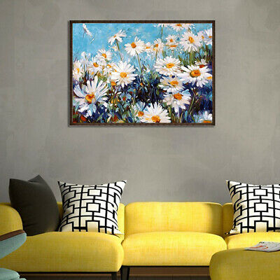 Pretty Flowers Diy Oil Painting By Numbers Kit Wall Art Living Room Office Decor