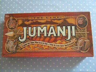 Jumanji Board Game By Mb Games Vintage Edition Dated 1995 Complete