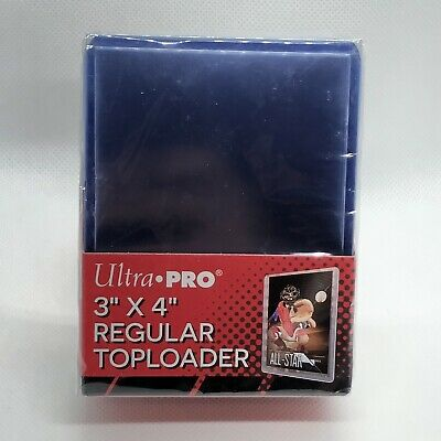 "Ultra Pro 35 Point 3"" x 4"" Sports Cards Regular Durable Clear Toploader 25 Count"