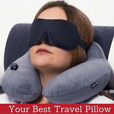 Inflatable Travel Pillow Set for Airplane - Inflatable Neck Pillow for Airplane