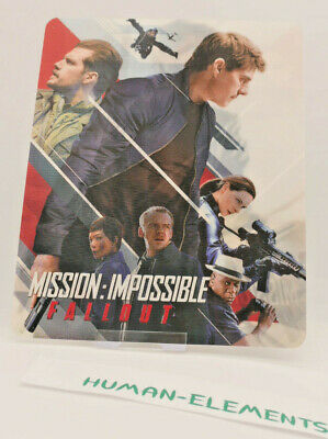 MISSION IMPOSSIBLE FALLOUT - 3D LENTICULAR Flip Magnet for bluray steelbook