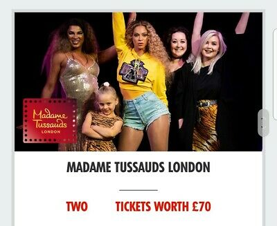 Madame tussauds london Feb 2020 tickets