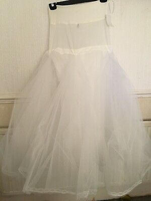 *NEW* THE BRIDAL COMPANY -  2-Hoop Ivory  Petticoat/Underskirt -  One Size