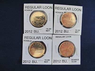 2012 Canada Loon Dollar lot of Four Coins  E5873