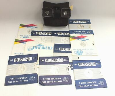 Vintage/ Retro VIEW-MASTER Viewer With 10+ Assorted Rotating Slides  - B54