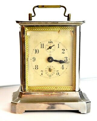 Beautiful Rare Antique French Carriage Clock Musical Movement Visible Escapement