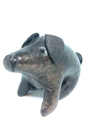 Vintage Dimitri Omersa Mini Pig Leather Footstool Liberty's Abercrombie & Fitch