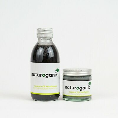 Coconut Oil Toothpaste Charcoal (60ML) & Mouthwash (150ML) & Charcoal Spearmint