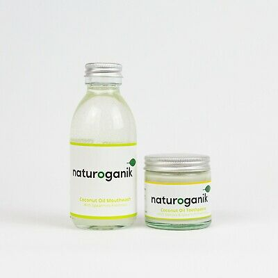 Coconut Oil Mouthwash 150 ML bottle & Toothpaste with Manuka with Spearmint 60ML