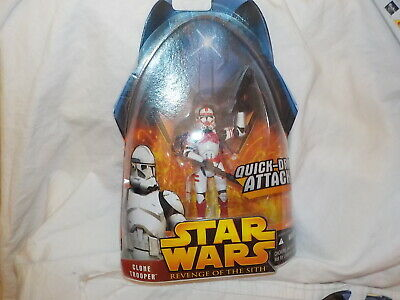 Star Wars Revenge of the sith Clone Trooper red #6 quick draw action  sw8