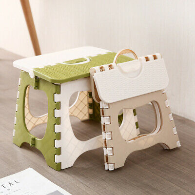 Step Stool Multi Purpose Plastic Folding Home Kitchen Easy Storage Foldable Seat