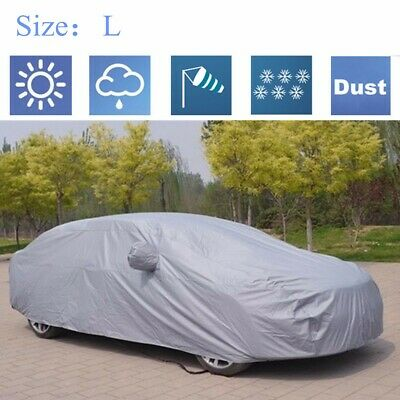 Full Waterproof L Size Large 2 Layers Car Cover Breathable UV Protection Outdoor