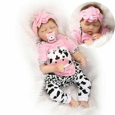 "22""'Girl Reborn Baby Dolls Vinyl Silicone Realistic New Arrival Newborn Doll Toy"