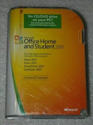 Microsoft Office Home and Student 2007 Word Excellent PowerPoint Certified Note