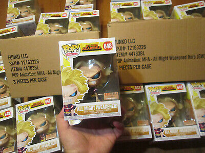 Funko Pop MY HERO ACADEMIA ALL MIGHT ( WEAKENED ) # 648 BOX LUNCH AUTHENTIC NEW