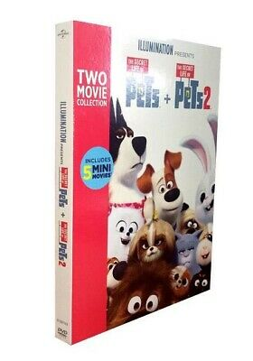The Secret Life Of Pets 1 & 2 (2-Movie DVD Collection) Both are Included