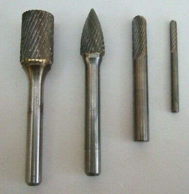 Spherical Carbide Burr 2mm x2mm head 3mm shank x38mm overall ball NEW LOW PRICE