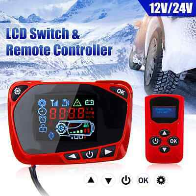 12V/24V Air Heater Diesel Parking Remote Controller+Monitor LCD Switch Board UK