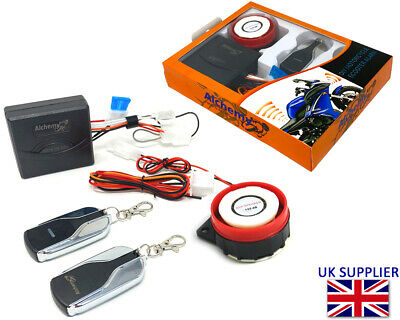 Security Alarm Easy Install 12V Compact for Motorbike Scooter Moped Quad