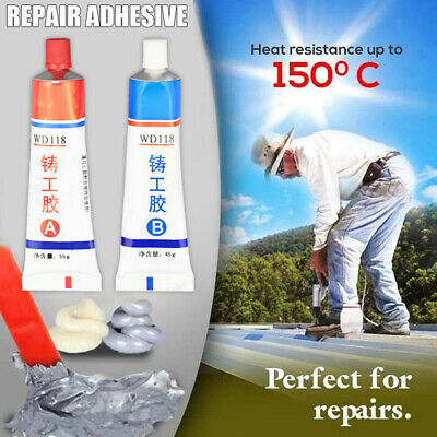 Industrial Heat Resistance Cold Weld Metal Repair Paste for Cracks Scratch A&B