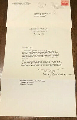Harry S. Truman 1953 Typed Letter Signed - About NY Times Editorial About Him