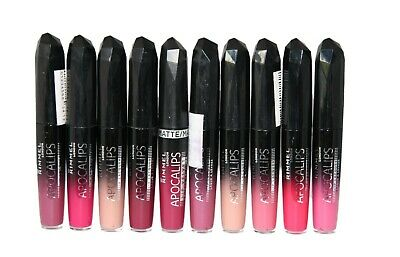 10 x Rimmel Apocalips Lip Lacquers | 8 Shades | RRP £65 | Wholesale
