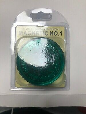 Non Magnetic 60mm 3 Part No 1 Grinder Plastic Herb Shark Teeth Tobacco Storage