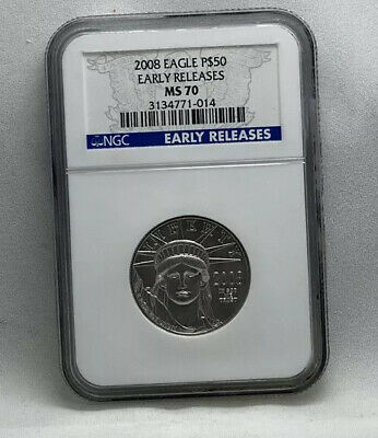 2008 Platinum 1/2oz Eagle P$50 NGC MS 70 Early Release