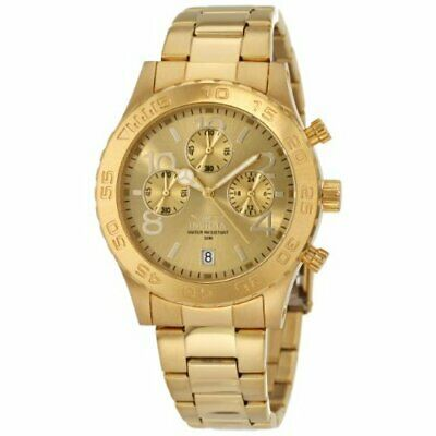 Invicta  Men's Specialty 1279 Gold  Stainless Steel Chronograph  Watch